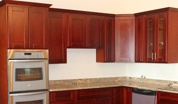 cherry shaker cabinets - beaverton kitchen cabinets & stone inc.